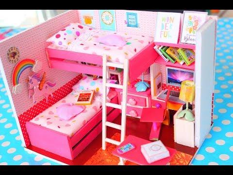 DIY DOLLHOUSE MINIATURE BEDROOM