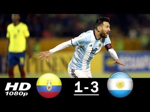 Argentina vs Ecuador 3-1 All Goals & Highlights (11/10/2017)
