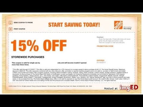 How To Get 15 Off Coupon At Home Depot Youtube