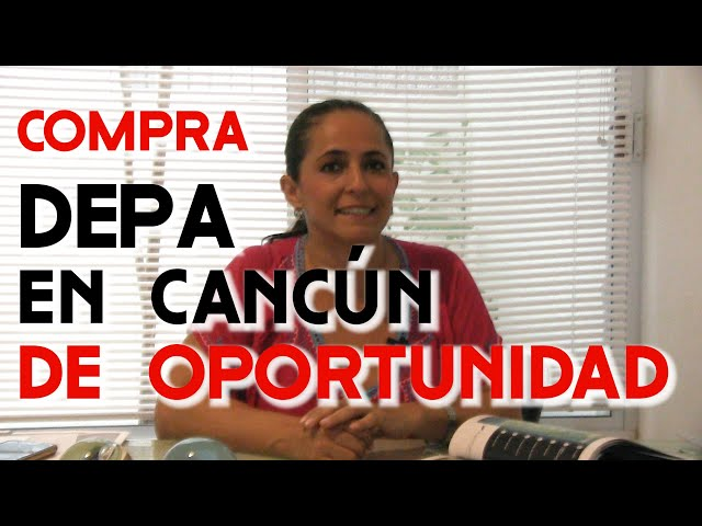 DEPARTAMENTO DE OPORTUNIDAD EN CANCUN  - TAYDE FAVILA ASESORIA DE BIENES RAICES