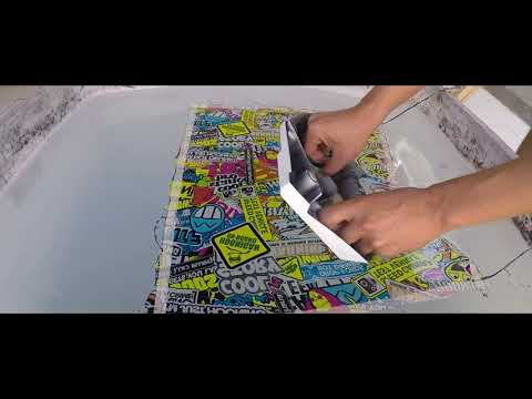Proses Water Printing Cover Radiator Vario 150