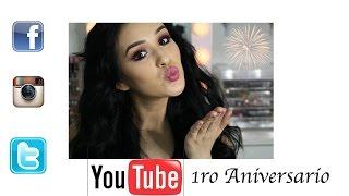 1ro aniversario en youtube + Cambios en mis Redes Sociales Thumbnail