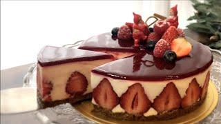 Fraisier프레지에 |노오븐 딸기케이크 만들기 |틀…