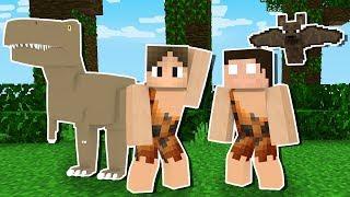 Minecraft: SOBREVIVENDO COM MEU AMIGO NA IDADE DAS PEDRAS!