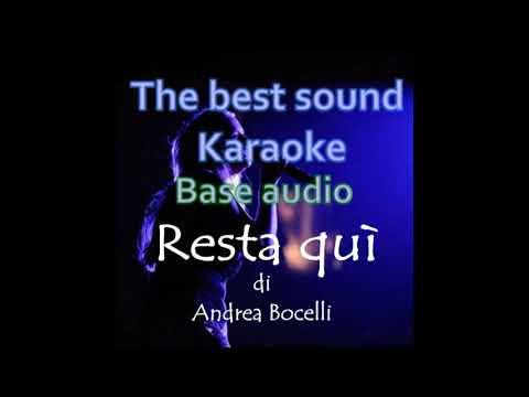 Resta quì KARAOKE BASE DEMO   Andrea Bocelli