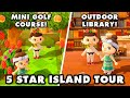 5 Star Island with a 3-Hole Mini Golf Course! Animal Crossing New Horizons Island Tour!