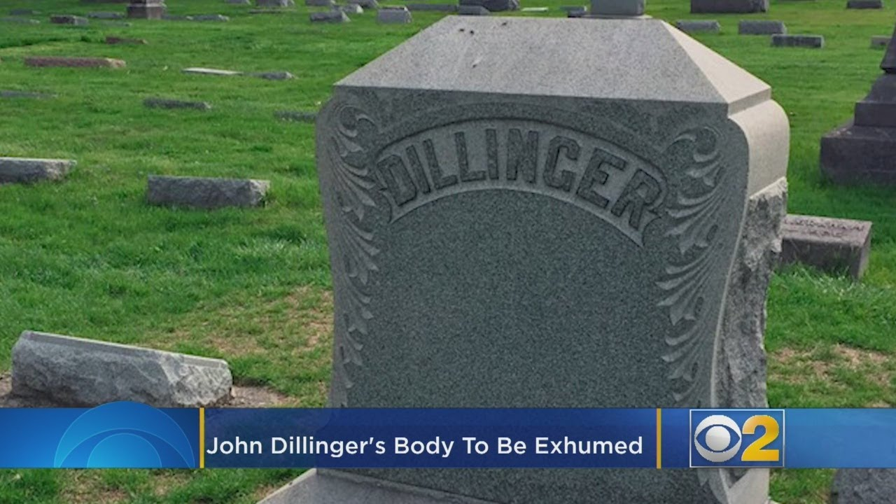 Gangster John Dillinger's body will be exhumed from an Indiana cemetery