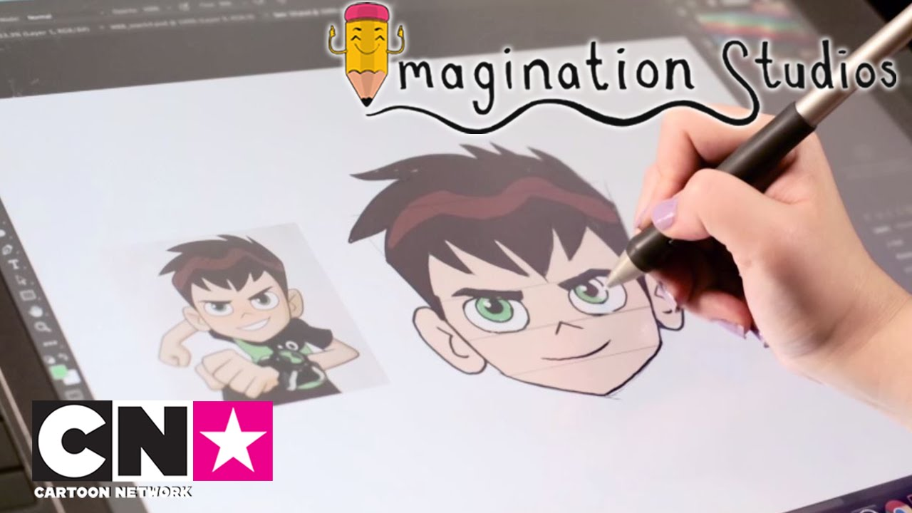 Coloriage Ben 10 En Couleur.Comment Dessiner Ben10 Imagination Studios Cartoon Network