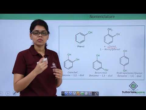 Alcohols, Phenols And Ethers - Nomenclature