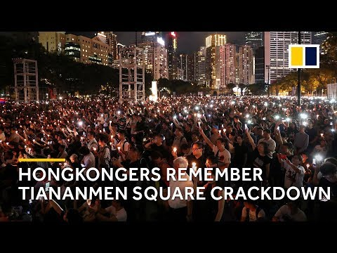 Hongkongers remember Tiananmen Square crackdown