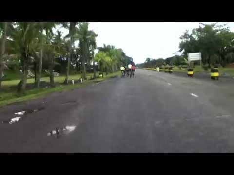 Mountain Biking on Queen Elizabeth Drive in Suva, Fiji