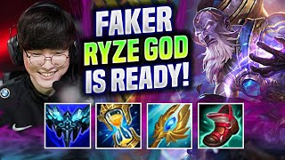 FAKER THE RYZE GOD IŠ READY FOR WORLDS! - T1 Faker Plays Ryze Mid vs Qiyana!   Be Challenger