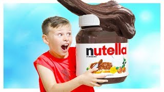 ALİ NUTELLA SLİME YAPTI  Ali made Nutella slime , Johny Johny Yes Papa compilation video for kids