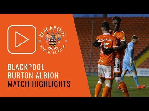 Highlights | Blackpool 3 Burton Albion 0