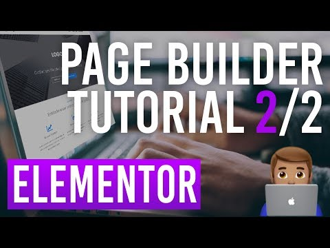 Elementor WordPress Page Builder Teil 2/2 - Tutorial Deutsch