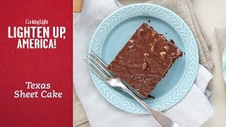 How To Make Lighter Texas Sheet Cake