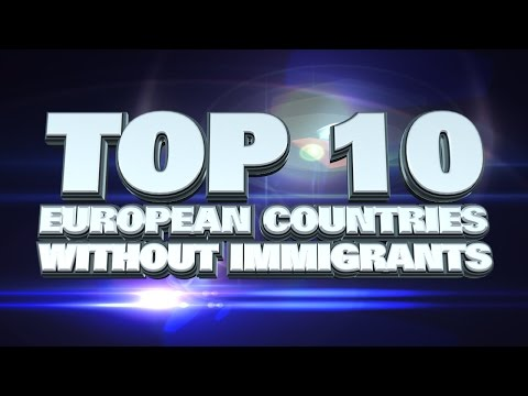 10 countries in Europe with the least immigrants 2014