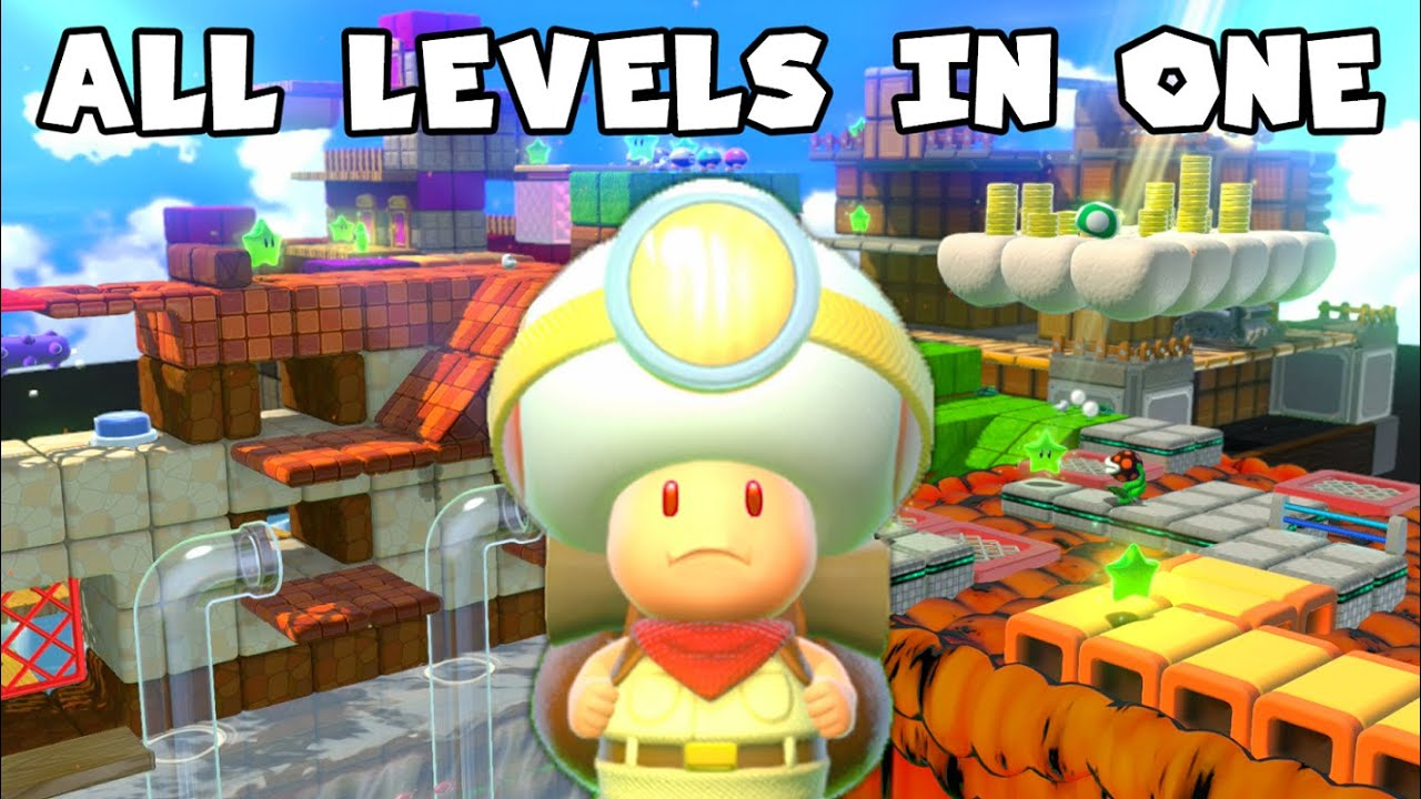 What If All Captain Toad Levels Were Put into One in Super Mario 3D World?