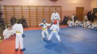 Каратэ поединки дети 6-7 лет. kumite children 6-7 years