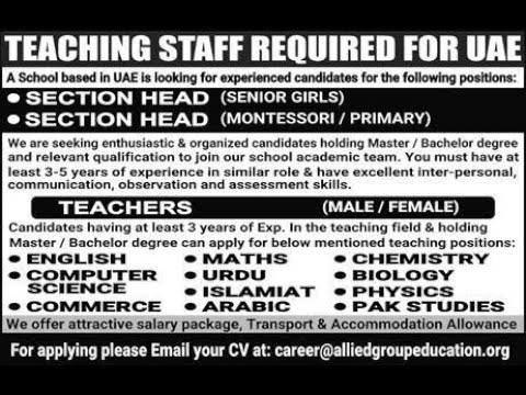 Jobs in Saudi Arabia, UAE, Qatar & Muscat Oman, 4 February 2018