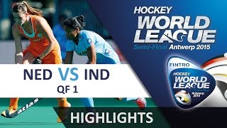 Netherlands v India Match Highlights - Antwerp Women
