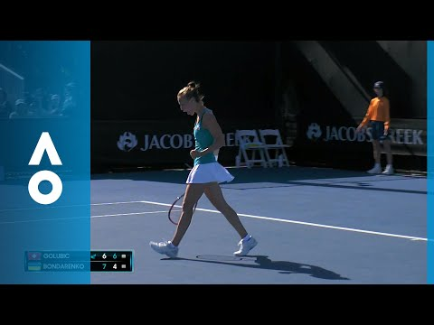 Viktorija Golubic v Kateryna Bondarenko match highlights (1R)   Australian Open 2018