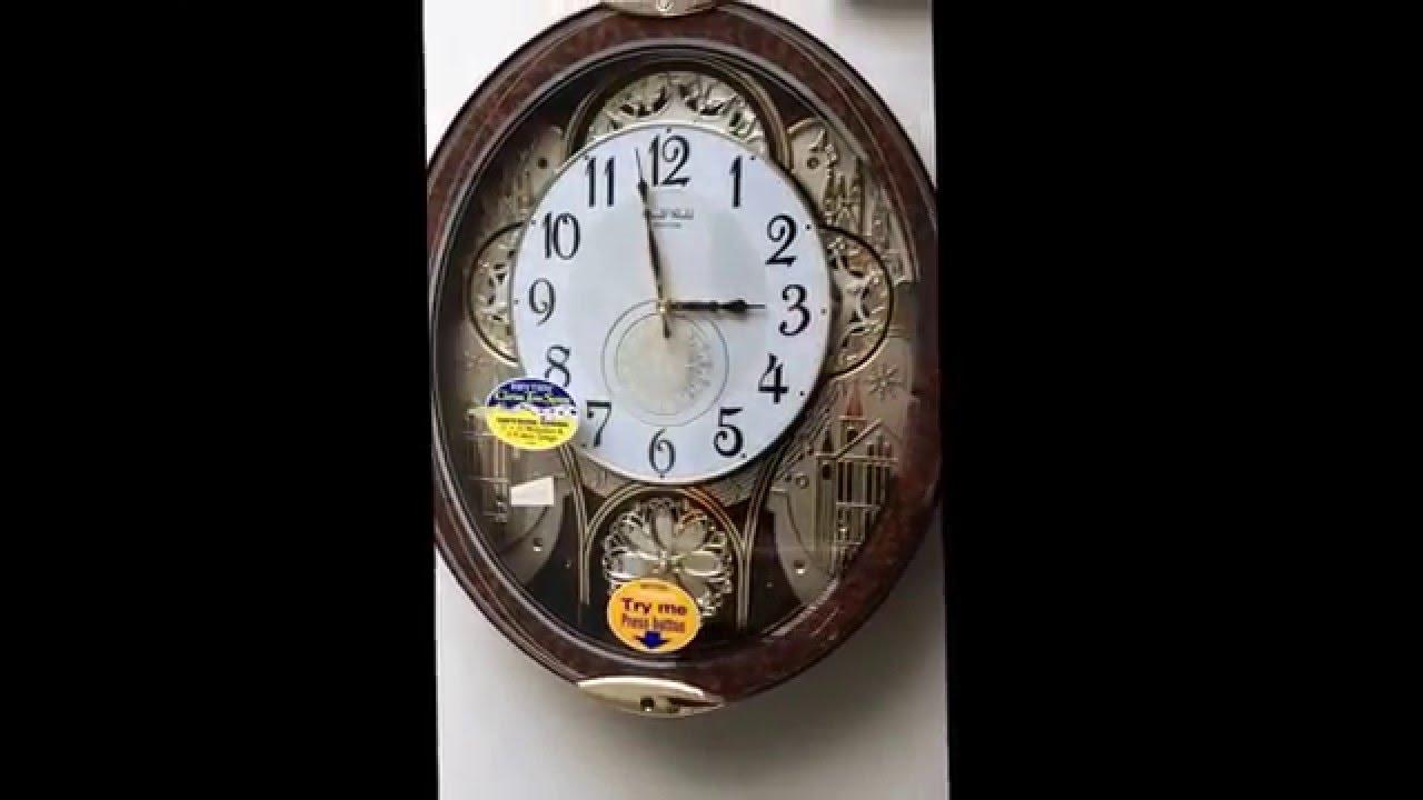 Rhythm Magic Motion Musical Wall Clock 4mh856wd23 Product Video Clock Wall Clock Motion