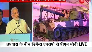 PM Narendra Modi inaugurates 'Make In India' pavilion at Defence Expo in Mahabalipuram
