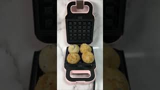 와플기계로 소보로 찰빵…