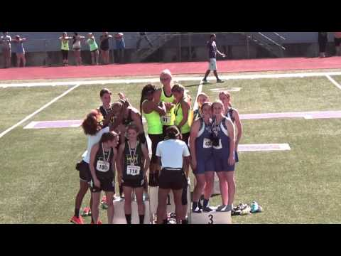 Blum High School Girls awarded 1st place in the 4x400 meter relay at Regionals 4-30-16