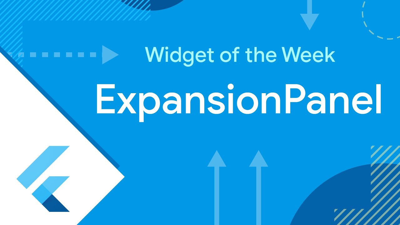 ExpansionPanel (Widget of the Week)