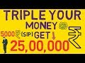 Invest SIP IN MUTUAL FUNDS GET 25,00,000 HOW??