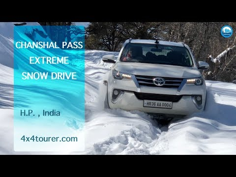 Extreme Snow Drive to Chanshal Pass | Toyota Fortuner | Off Road | 4K