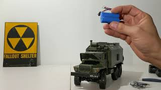 Rtr 1/16 WPL B-36 6x6 ural communication's truck unboxing video