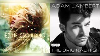 Ghost Lights | Adam Lambert & Ellie Goulding Mixed Mashup!