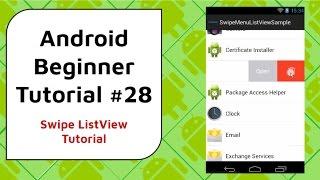 Android Beginner Tutorial #28 - Swipe ListView Tutorial