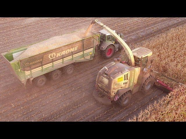 Lohnunternehmen Görries im Einsatz - Maisernte mit Krone BiGX 1100 [Teil 3]