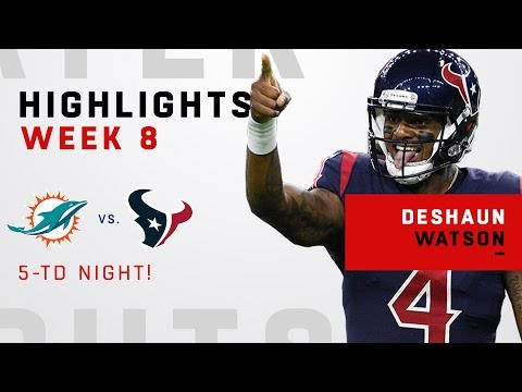 Deshaun Watson's 5 TD Game vs. Miami!