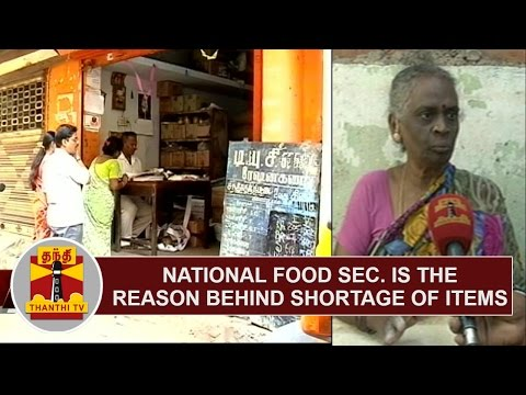 Implementing National Food Security Act in TN is the reason behind shortage of Ration items