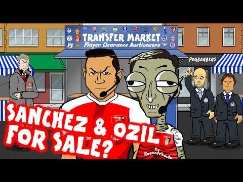 SANCHEZ & OZIL - for sale? (Transfer Market #4 - Cartoon Parody)