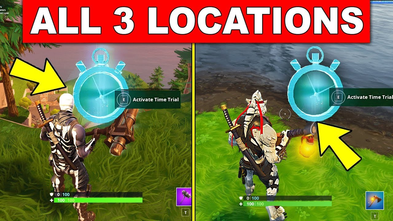 Complete Timed Trials All 3 Locations Week 3 Challenges Fortnite