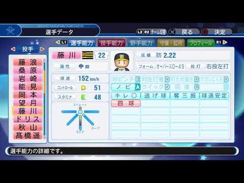 【'18パワプロ選手能力】阪神 22 藤川球児投手