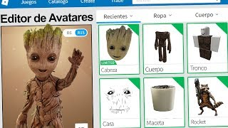 We created the GROOT PROFILE in ROBLOX !! | Rovi23 Roblox
