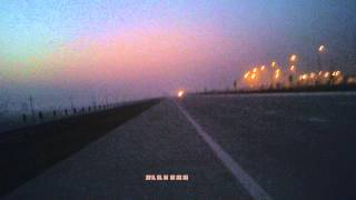 Dawn at Yamuna Express Way Delhi to Agar Highway parallel to National Highway NH-2 India