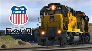 Union Pacific Freight Trains in the Desert - TS2019