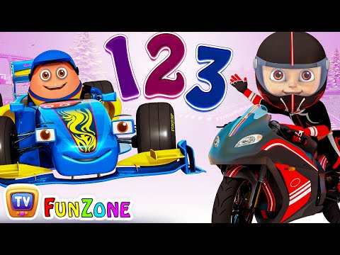 Ten Little SuperCars & SuperBikes - 3D Nursery Rhymes & Songs for Babies by ChuChu TV Kids Songs