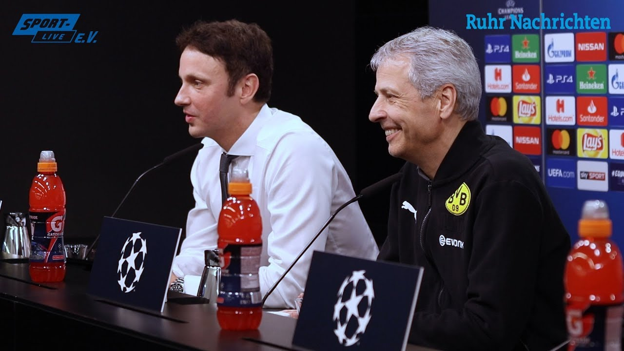 BVB-PK mit Favre nach dem 0:1 gegen Tottenham