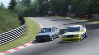 Assetto Corsa - BMW E30 DTM and Mercedes 190 EVO II at Nordschleife
