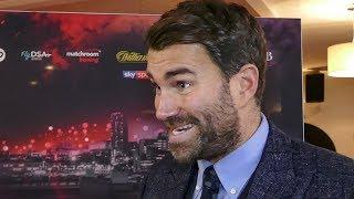Eddie Hearn EXCLUSIVE: 70% chance JOSHUA FIGHTS WILDER OR FURY next at Wembley