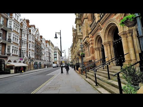 London Mayfair. Walk Around from Park Street to Regent Street